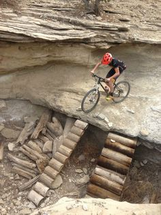 Here's that ledge ramp again, but from another angle! #mtb #mountainbiking