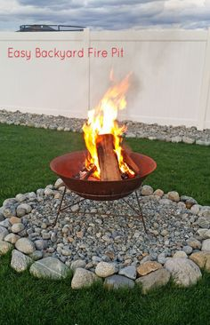 In less than 30 minutes you can create this Easy Backyard Fire Pit in your own yard. Be fire safe while roasting marshmallows & having family time.