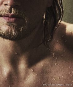Such an artistic shot of a beautiful clavicle... Charlie hunnam, Jax on sons of anarchy