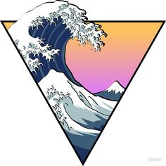 """Great Wave Aesthetic"" Stickers by Zayter Aesthetic Drawing, Aesthetic Art, Aesthetic Grunge, Aesthetic Vintage, Aesthetic Anime, Aesthetic Iphone Wallpaper, Aesthetic Wallpapers, Diy Sticker, Home Bild"