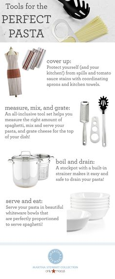 Want to prepare the perfect pasta? Find all the tools you need from the #MarthaStewartCollection only at Macy's!