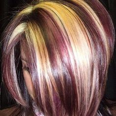 <3 chunky multi-colored highlights