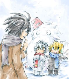 This is freaking adorable. L, Near and Mello