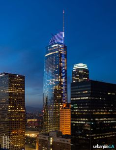 The Wilshire Grand Lights up the Los Angeles Skyline | Urbanize LA
