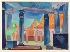 Stage Design for Cleopatra|Artist: Robert Delaunay (French, Paris 1885–1941 Montpellier)|Date: ca. 1918|Medium: Watercolor, gouache, metallic paint, and graphite on paper