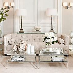 Weiß Wohnzimmer White Living Room Living Room White living room is a design that is very popular today. Design is Luxury Living Room, Interior, Living Room White, Home Decor, Room Inspiration, House Interior, White Rooms, Interior Design, Living Decor