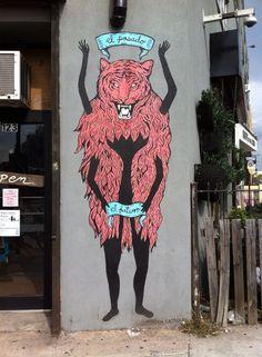 Art on a Williamsburg Street.