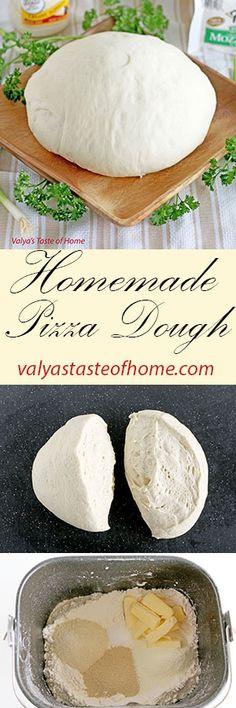 Homemade Pizza Dough http://valyastasteofhome.com/homemade-pizza-dough #homemadepizzadough