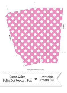 Pastel Pink Polka Dot Popcorn Box — Printable Treats.com
