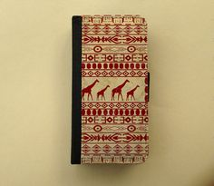 African iPhone 4 5 flip case Samsung Galaxy S3 S4 leather style wallet, flower iPhone wallet, book style, Samsung iPhone 5 - Giraffes on Etsy, $23.90