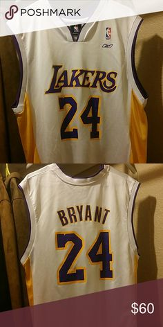 Original Kobe Bryan basketball jersey Basketball jersey 24 Reebok Shirts Tank Tops