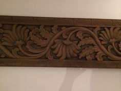 Carved decor Cane Baskets, Moldings And Trim, Wood Carving Designs, Wood Art, Wood Doors, Wood Panel Walls, Wood Frame, Curio Cabinet Decor, Wooden Design