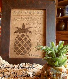 Primitive Pineapple Sampler PDF pattern by JoyceReedfolkart
