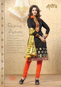Chanderi and chiffon beautiful casual wear #salwarsuit shop online at #craftshopsindia
