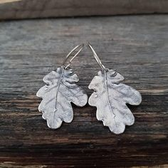 Check out this item in my Etsy shop https://www.etsy.com/listing/564762111/sterling-silver-leaf-earrings-boho-oak