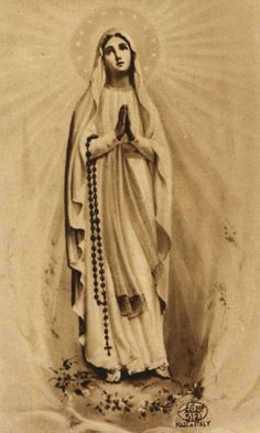 Our Lady of Lourdes. Divine Mother, Blessed Mother Mary, Blessed Virgin Mary, Religious Images, Religious Icons, Religious Art, Catholic Prayers, Catholic Art, Roman Catholic