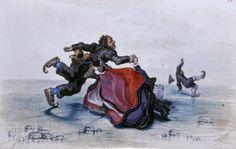 Adriaen Pietersz van de Venne (Dutch painter, 1589-1662), 1620-26 Tumbling Skaters