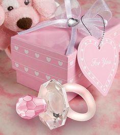 Kleiner Kristall-Schnuller - rosa
