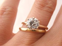 Vintage Old Mine Cut 1.38 carat Solitaire Diamond by RiordanStudio, $8250.00