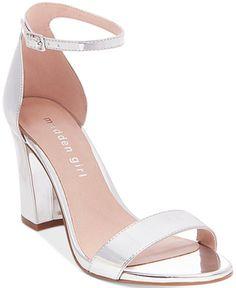 e0194cb7b Bella Two-Piece Block Heel Sandals. Womens Silver ...