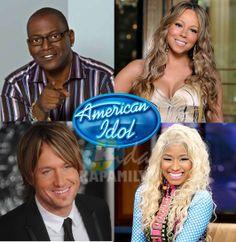 American Idol Season 12 Judges: Randy Jackson, Mariah Carey, Nicki Minaj and Keith Urban