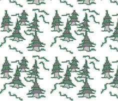 pinetrees fabric by shy_bunny on Spoonflower - custom fabric