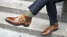 Monk strap boots