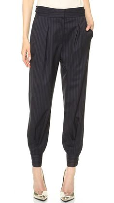 last day to get 25% off of these amazing pinstripe slouchy cuffed pants!