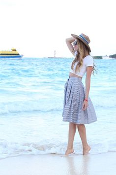 vacation outfit straw hat crop top #mindymaesmarket #dreamcloset