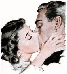 Sad art alone truths 42 trendy Ideas Romance Art, Vintage Romance, Vintage Couples, Sad Art, Arte Pop, Pulp Art, Poses, Pin Up Art, Vintage Comics