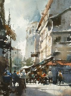 【The Old Street of Istanbul / 伊斯坦堡的老街】 Demo for workshop in Istanbul by Chien Chung Wei.