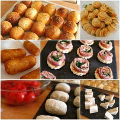 DOLCEmente SALATO: Festa di compleanno Appetizer Buffet, Appetizer Recipes, Appetizers, Catering, Party Finger Foods, Crepes, Party Buffet, Pizza, Mini Desserts