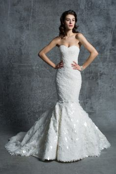 Paper lace sequin mermaid gown: http://www.stylemepretty.com/lookbook/designer/isabelle-armstrong/ #SMPLookBook