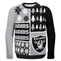 Oakland Raiders - Busy Block Ugly Christmas Sweater