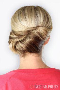 modern french twist | Pretty Twist Updos 2014 – 2015 : Summer Hairstyles Ideas / Via
