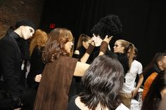 Backstage at Donna Karan RTW Fall 2013