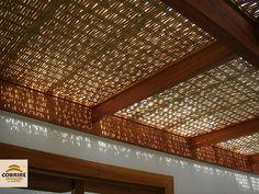 Forro de Bambu para Pergolado - COBRIRE Construções em Madeira
