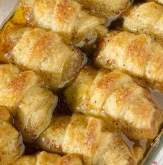 Apple Dumplings is one of the best desserts. Find the easy recipe for Apple Dumplings at OMG Chocolate Desserts. Apple dumplings have incredible taste! Apple Desserts, Köstliche Desserts, Apple Recipes, Fall Recipes, Sweet Recipes, Delicious Desserts, Dessert Recipes, Yummy Food, Chocolate Desserts