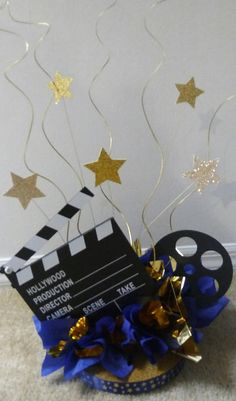 Hollywood Movie Theme Centerpiece Party Decoration Stars Film