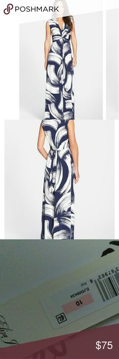 """Eliza J Jersey Maxi Dress Brand new, never worn! Approx. 60"""" long, empire waist with tie back. Figure flattering just too long for me. Firm on price for now, I may just get it altered. Eliza J Dresses Maxi"""