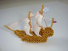 Кораблик | biser.info - всё о бисере и бисерном творчестве