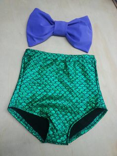 The little mermaid Bow Bandeau top High Waisted by wettbaby