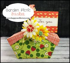 Paper picnic basket made with files by #CreationsbyAR