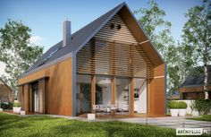 Projekt domu EX 14 energo plus Modern Barn House, Ares, Facade House, Design Case, Big Houses, Home Fashion, Cabana, Bungalow, Tiny House