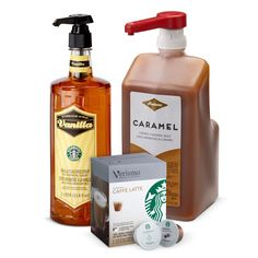Everything you need to make delicious caramel macchiatos at home. Place Vanilla Syrup in the bottom of your cup, brew a Verismo<sup>®</sup> Caffè Latte and drizzle the top with Caramel Sauce.