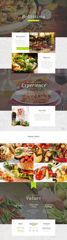 Template 58225 - Bellissimo Cafe  Responsive Website Template