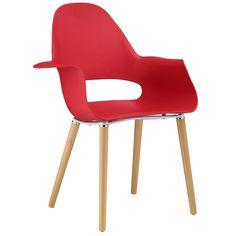 Classic Durable Hard Plastic Dining Armchair