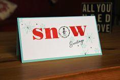 Stampin Up UK Demonstrator Zoe Tant blog: Christmas Card Club - Snowmen