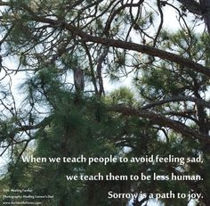 Sorrow is a path to joy.