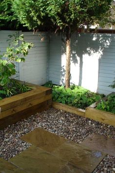 H C Landscape's project with railway sleepers 6
